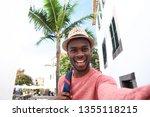 portrait of handsome young... | Shutterstock . vector #1355118215