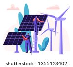 alternative clean energy... | Shutterstock .eps vector #1355123402