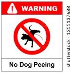 warning forbidden sign no dog... | Shutterstock . vector #1355137688