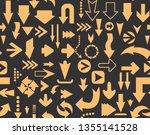 arrows seamless pattern of...   Shutterstock .eps vector #1355141528