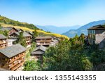 chinese village in the... | Shutterstock . vector #1355143355