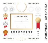 certificate template. badge... | Shutterstock .eps vector #1355146265
