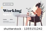working space landing page...   Shutterstock .eps vector #1355151242
