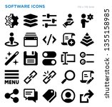 software technology vector icon ...