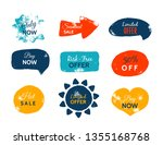 grunge sale badge collection.... | Shutterstock .eps vector #1355168768