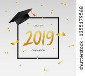graduating class of 2019  ... | Shutterstock .eps vector #1355179568
