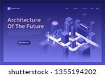 landing page with futuristic... | Shutterstock .eps vector #1355194202