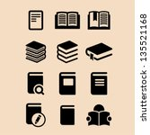 book icon set | Shutterstock .eps vector #135521168