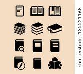 book icon set   Shutterstock .eps vector #135521168