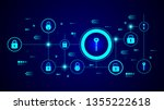 key icon. from lock and keys set | Shutterstock .eps vector #1355222618
