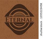 eternal badge with wooden...   Shutterstock .eps vector #1355223458