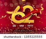 62 years anniversary logo... | Shutterstock .eps vector #1355225555