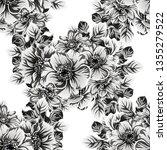 flower print. elegance seamless ... | Shutterstock . vector #1355279522