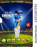 illustration of batsman and...   Shutterstock .eps vector #1355287352