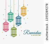decorative hanging lanterns... | Shutterstock .eps vector #1355289278