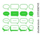 bubble chat icon vector.... | Shutterstock .eps vector #1355308745