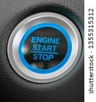 start stop engine car blue...   Shutterstock . vector #1355315312