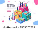 communication  economy project  ... | Shutterstock .eps vector #1355325995