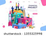 communication  economy project  ... | Shutterstock .eps vector #1355325998