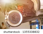 disc brake of the vehicle for... | Shutterstock . vector #1355338832