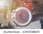 disc brake of the vehicle for... | Shutterstock . vector #1355338835