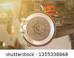 disc brake of the vehicle for... | Shutterstock . vector #1355338868