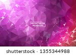 abstract purple polygonal space ... | Shutterstock .eps vector #1355344988