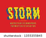 vector of stylized modern font... | Shutterstock .eps vector #1355355845
