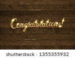 congratulations   hand drawn... | Shutterstock .eps vector #1355355932