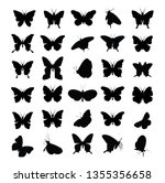 Stock vector butterfly icons vector 1355356658