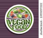 vector logo for vegan food ... | Shutterstock .eps vector #1355357222