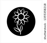 flower icon  abstract flower... | Shutterstock .eps vector #1355358218