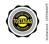 tostadas vintage label. label... | Shutterstock .eps vector #1355364695