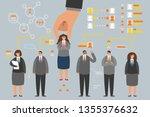 human resource job candidate... | Shutterstock .eps vector #1355376632