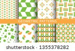 set of geometric seamless... | Shutterstock .eps vector #1355378282