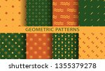 set of geometric seamless... | Shutterstock .eps vector #1355379278