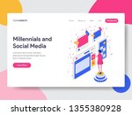 landing page template of... | Shutterstock .eps vector #1355380928