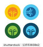 four elements abstract symbols  ... | Shutterstock .eps vector #1355383862
