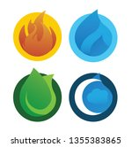 high quality four element... | Shutterstock .eps vector #1355383865