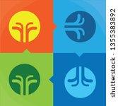 four elements flat symbols ... | Shutterstock .eps vector #1355383892