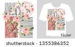 stylish print on a t shirt....   Shutterstock .eps vector #1355386352