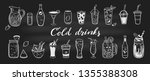 vector hand drawn set of cold... | Shutterstock .eps vector #1355388308
