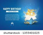 45 th years anniversary banner... | Shutterstock .eps vector #1355401025