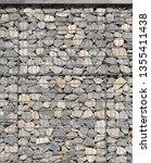 gabion palisade  texture | Shutterstock . vector #1355411438