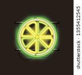 lemon citrus fruit neon lights   Shutterstock .eps vector #1355412545