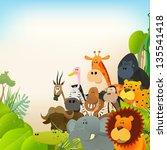 wildlife animals background ... | Shutterstock .eps vector #135541418