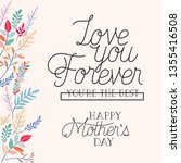happy mothers day card with...   Shutterstock .eps vector #1355416508