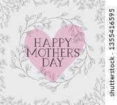 happy mothers day card with... | Shutterstock .eps vector #1355416595
