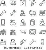 thin line vector icon set  ... | Shutterstock .eps vector #1355424668