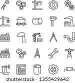 thin line vector icon set  ... | Shutterstock .eps vector #1355429642